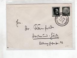 """III. Reich, Brief   """" Der Führer Spricht, Klagenfurt 1938 """" Nach Dortmund - Hörde - Briefe U. Dokumente"""