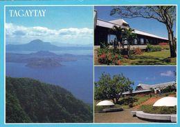1 AK Philippinen * Der Taal Vulkan Im Taalsee Und Das Hotel Tagaytay * - Filippine