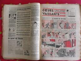 52 Coeurs Vaillants 1936. Reliure Amateur. Hergé Tintin En Extrême-orient (lotus Bleu) Jo Zette Jim Boum Marijac Pat'fol - Magazines