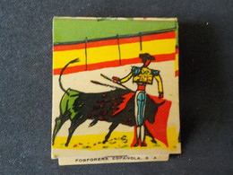 Expo 1958 Pochette Complète Allumettes Match Exposition Universelle 58 Bruxelles Espagne Corrida Torréador - Around Cigarettes