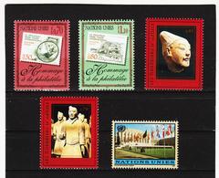 SRO435 UNO GENF 1997  MICHL 319/22 + 329 ** Postfrisch Siehe ABBILBUNG - Genf - Büro Der Vereinten Nationen