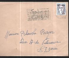 Réunion   Lettre Du  09  10 1966   Pour  Saint Denis - Reunion Island (1852-1975)