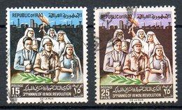 IRAK. N°455-6 Oblitérés De 1966. Anniversaire De La Révolution. - Irak