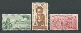 AEF 1942 PA  N° 10/12 **  Neufs MNH Superbes C 6,12 € Profit Oeuvre Protection Enfance Indigène Enfants Children - A.E.F. (1936-1958)