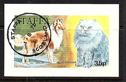 Cat Dog Collie Blue Persian Staffa-Scotland Block VF Used 1972 (st-9) - Local Issues