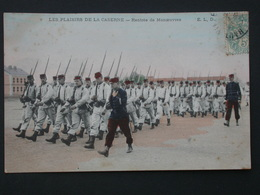 Ref5786 CPA Animée Plaisirs De La Caserne - Rentrée De Manoeuvres ELD 1906 - Militaria - Militaria