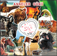 TURKEY 2014, FAUNA, MOTHER'S DAY, ANIMALS With THEIR YOUNG, MNH SET (MiNo 4104) In GOOD QUALITY, *** - 1921-... Republic