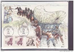 ETATS UNIS CARTE MAXIMUM NUM.YVERT 1806  TRANSPORT  LE CHARIOT  BACHE - Maximumkaarten