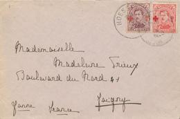 048/29 - Enveloppe TP Croix Rouge 10 C Et 20 C - HOESSELT 1920 Vers JOIGNY France - Belle Combinaison - 1918 Red Cross