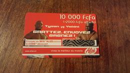 CARTE PRÉPAYÉE USED SÉNÉGAL 10000 FCFA +2000  SONATEL THEME BOXE TYSON VS YCKINI - Senegal