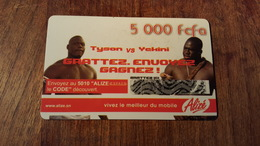 CARTE PRÉPAYÉE USED SÉNÉGAL 5000 FCFA   SONATEL THEME BOXE TYSON VS YCKINI - Senegal
