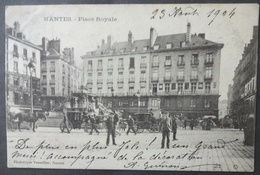 CPA 44 NANTES - Place Royale - Très Animée, Calèches - Vassellier 21 Précurseur - Réf. E 158 - Nantes