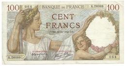 Billet Français De 100 Francs SULLY Du 20/11/1941 K.26088 - 1871-1952 Anciens Francs Circulés Au XXème