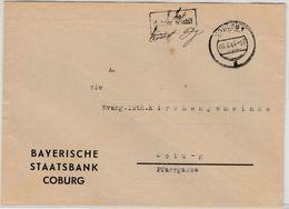 All.Bes. - Coburg 6.8.45, 8 Rpf. Gebühr Bezahlt, Ra1 + Hds. Vermerk A. Ortsbrief - Allemagne