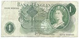 Billet, ENGLAND ROYAUME UNI / 1 ONE POUND - 1 Pound