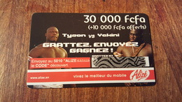 CARTE PRÉPAYÉE USED SÉNÉGAL 30000 FCFA +10000  SONATEL THÈME BOXE TYSON VS YCKINI - Sénégal