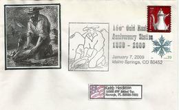 USA. 150 Ième Anniversaire Du Gold Rush A Georgetown (Colorado) Enveloppe Commemorative - Geologia