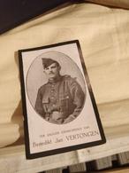Gesneuveld Soldaat Vertongen Steenkerke 1918 - Religion & Esotericism