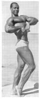 PHOTO HOMME  CULTURISME CULTURISTE FORMAT  16 X 6.50 CM - Sports