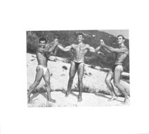 PHOTO HOMMES  CULTURISME CULTURISTE FORMAT 12 X 10.50 CM - Sports