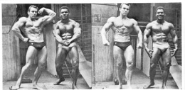 PHOTO HOMMES  CULTURISME CULTURISTE FORMAT 18.50 X 9.50 CM - Sports