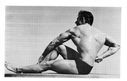 PHOTO HOMME  CULTURISME CULTURISTE FORMAT 20 X 12.50 CM - Sports