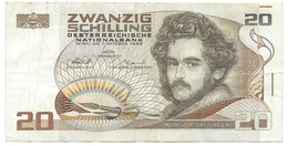 Autriche - Billet De 20 Schilling - 1er Octobre 1986 - Moritz M. Daffinger - Autriche