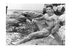 PHOTO HOMME  CULTURISME CULTURISTE FORMAT 21 X 15 CM - Sports