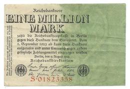BILLET ALLEMAGNE / GERMANIE - REICHSBANKNOTE EINE MILLION MARK 1923 - [ 3] 1918-1933 : République De Weimar