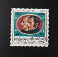 N° 1737       Ö Douce Nuit  -  Chanson Créée En Autriche  -  Noël 1987 - 1945-.... 2ème République
