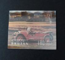 N° 311        Simplex Des USA  -  Voiture  -  Hologramme  -  Neuf - Bhoutan