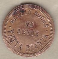 75 . Paris. Moulin Rouge. La Revue. Yetta Rianza , En Laiton Fourré - Professionnels / De Société