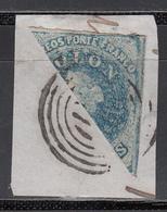 1856-66  Yvert Nº 6, Sello Fraccionado Sobre Fragmento. - Chile