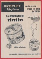 """La Bonbonnière Tintin Avec Son Porte Clefs """"Bonbonnière Miniature"""". Brochet Confiseur. - Publicités"""