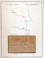 BELGIAN CONGO PS FROM TENKE 03.02.1903 TO BRUSSELS TRANSIT LUSAMBO - Entiers Postaux
