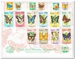 Kenia 1988, FDC, Butterflies - Kenia (1963-...)