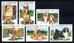 CAMBODJA 1999  MI.NR. 1906-1911 Asiatische Hunderassen MNH / POSTFRIS / NEUF SANS CHARNIERE - Camboya