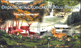 TURKEY 2014, FLORA And FAUNA, DEERS And MUSHROOMS, WATERFALLS, MNH SET (MiNo 4125) In GOOD QUALITY, *** - Nuevos