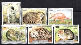 CAMBODJA 1996  MI.NR. 1569-1574 Kleinkatzen  MNH / POSTFRIS / NEUF SANS CHARNIERE - Cambodja