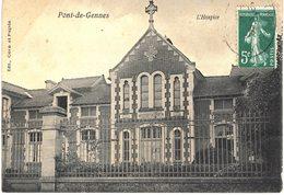 Carte Postale Ancienne De  PONT De GENNES - Hospice - Autres Communes