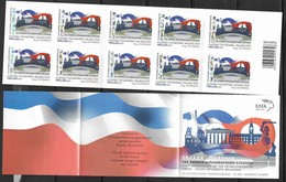 GREECE , 2019,MNH, JOINT ISSUE WITH POLAND, 100th ANNIVERSARY OF DIPLOMATIC RELATIONS WITH POLAND,  BOOKLET OF 10v - Emissioni Congiunte