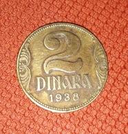 YUGOSLAVIA KINGDOM 2 DINARA 1938 - Yugoslavia