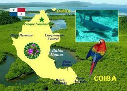 Panama Coiba Island Map UNESCO New Postcard - Panama
