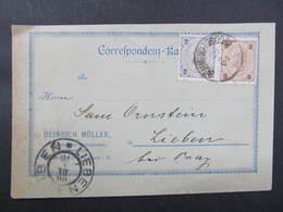 KARTE Böhmisch Weigsdorf Wustung B. Friedland - Liben Fa. Heinrich Müller 1900 // D*37872 - Briefe U. Dokumente