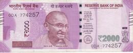 BILLETE DE LA INDIA DE 2000 RUPEES DEL AÑO 2016   (BANKNOTE) GHANDI - India