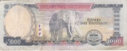 BILLETE DE NEPAL DE 1000 RUPIAS DEL AÑO 2013 - ELEFANTE-ELEPHANT (BANKNOTE) - Nepal