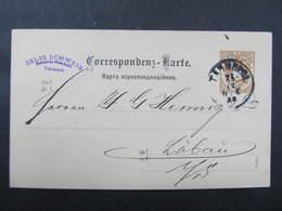 GANZSACHE Tarnopol - Löbau Selig Schweig 1888// D*37876 - Briefe U. Dokumente