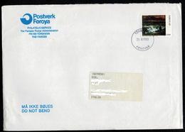 Isole Faroer 1991 85 Anniv. Nascita Pittore Mikines Valore Da 1300 Ore  VFU Su Busta Viaggiata 1993 - Isole Faroer