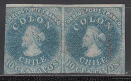 1856-66  Yvert Nº 6, (*) - Chile