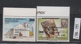 Honduras 1990 MNH Scott C794-C795 Surcharge J50 Anniversary IHCI - Honduras